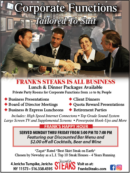 Corporate Functions – Coworkers @ Frank's Steaks of Jericho